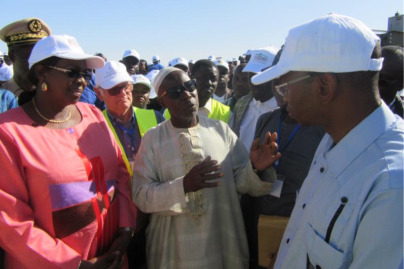 PDIDAS : Le Ministre de l'Agriculture et de l'Equipement Rural visite les réalisations du Projet
